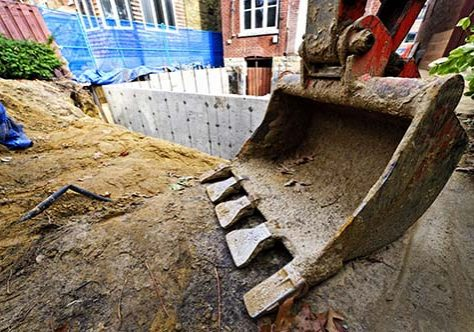 Plant hire for digging foundations of house